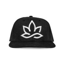 Hanf Snapback Cap, schwarz