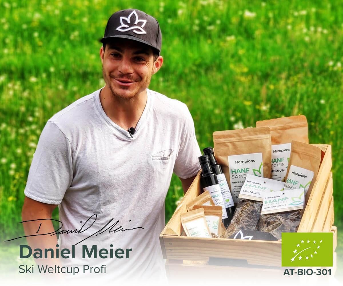 Daniel Meier, Hempions Gründer und Ski Weltcup Profi