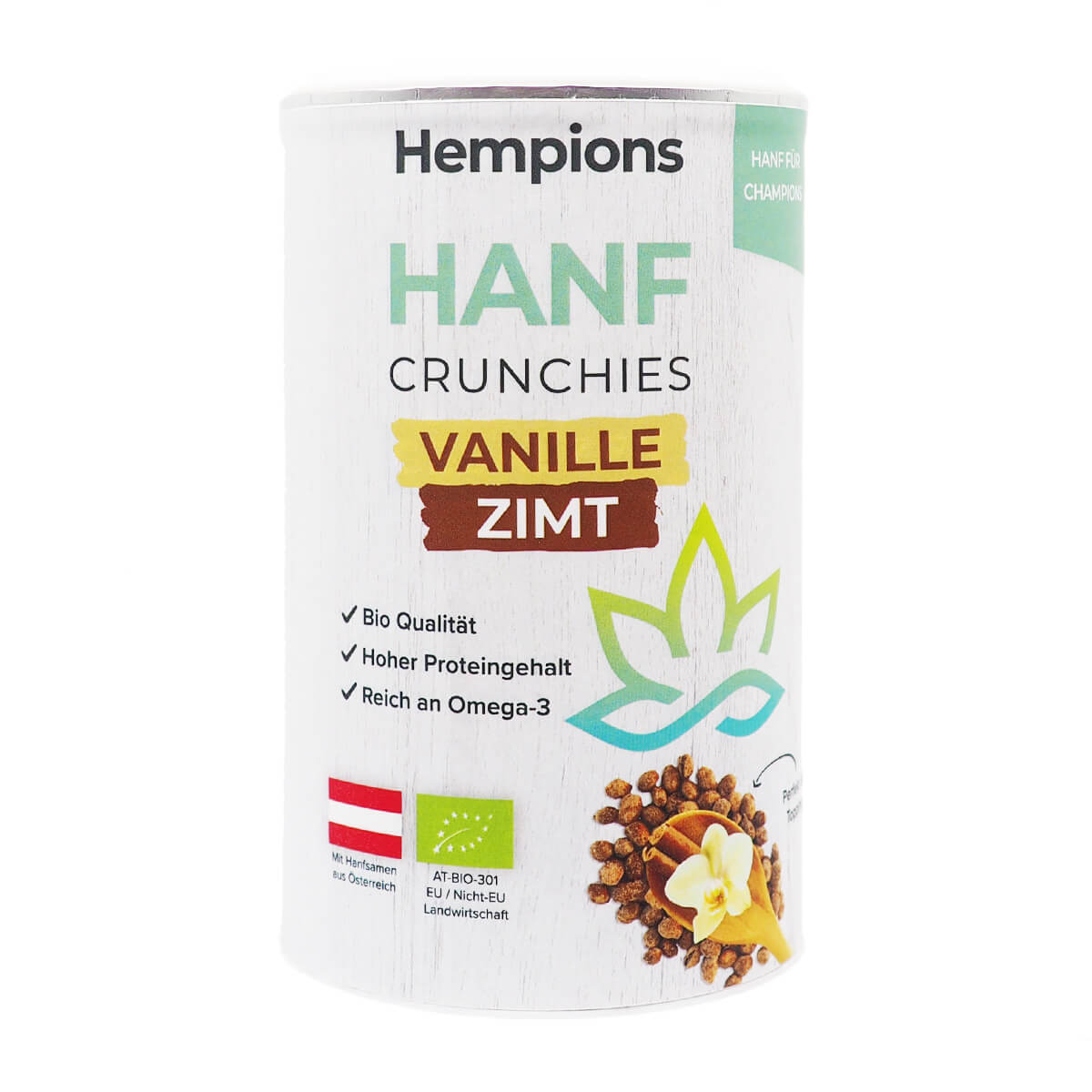 Bio Hanf Crunchies Vanille Zimt 200g